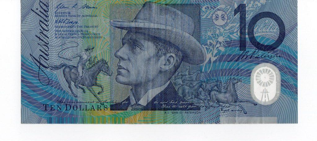 Australian $10 note. plastic - Unique Security Proposition