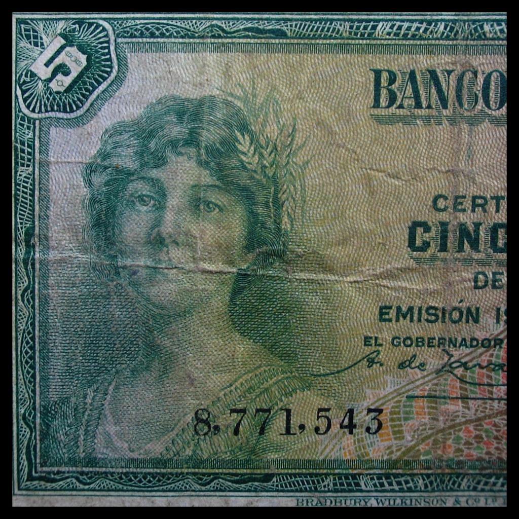 Spain 5 pesetas, 1935 - knowledge society