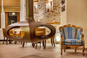 LIONS NINE-RECEPTION FIREPLACE-PELION HOTEL