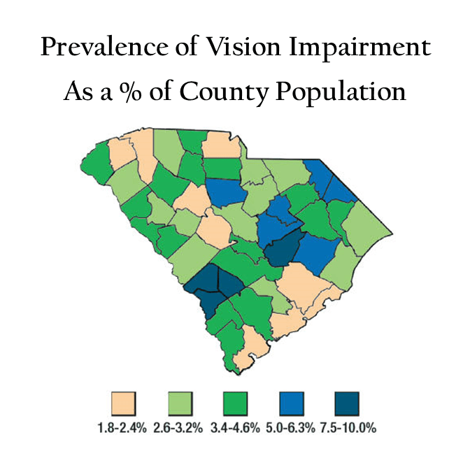 health outcomes map for south carolina