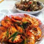 搵食 炒蜆 豉油煎蝦