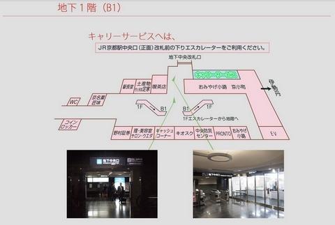 京都駅寄行李位置