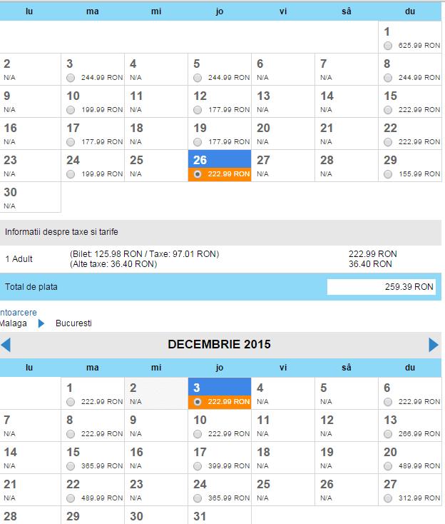bilete-bucuresti-malaga-de-1-decembrie