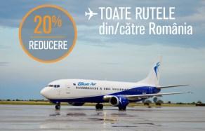 Ofertă Blue Air – 20% reducere pentru toate zborurile