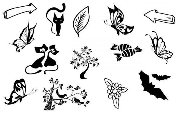 Картинки чёрно-белые для срисовки — самые популярные и ...