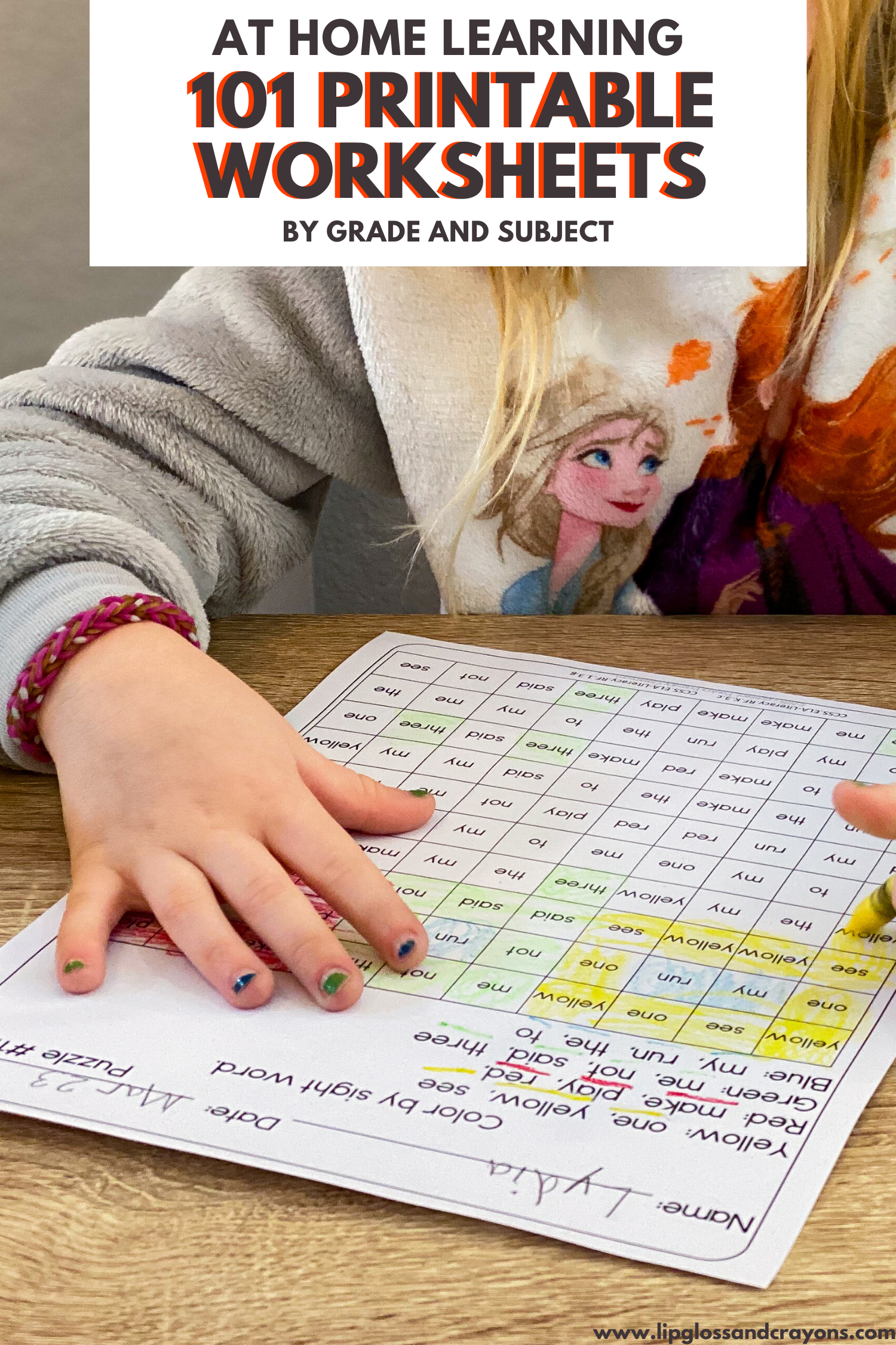 101 Printable Worksheets By Grade Level