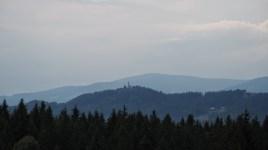 Egész héten ezzel a templommal szemeztünk. (Ribnisko Pohorje, Szlovénia.)