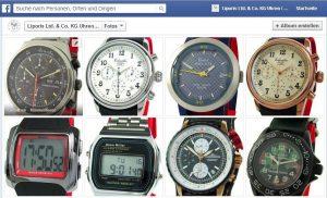 Liporis Uhren bei Facebook