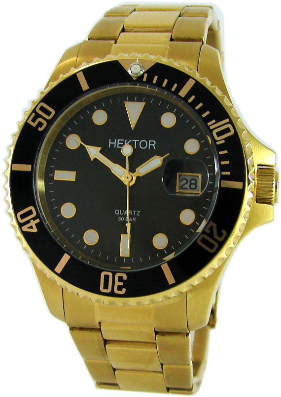 HEKTOR-SPORT-30BAR-Edelstahl-goldIP-geschraubte-Krone-Taucheruhr-diver-watch
