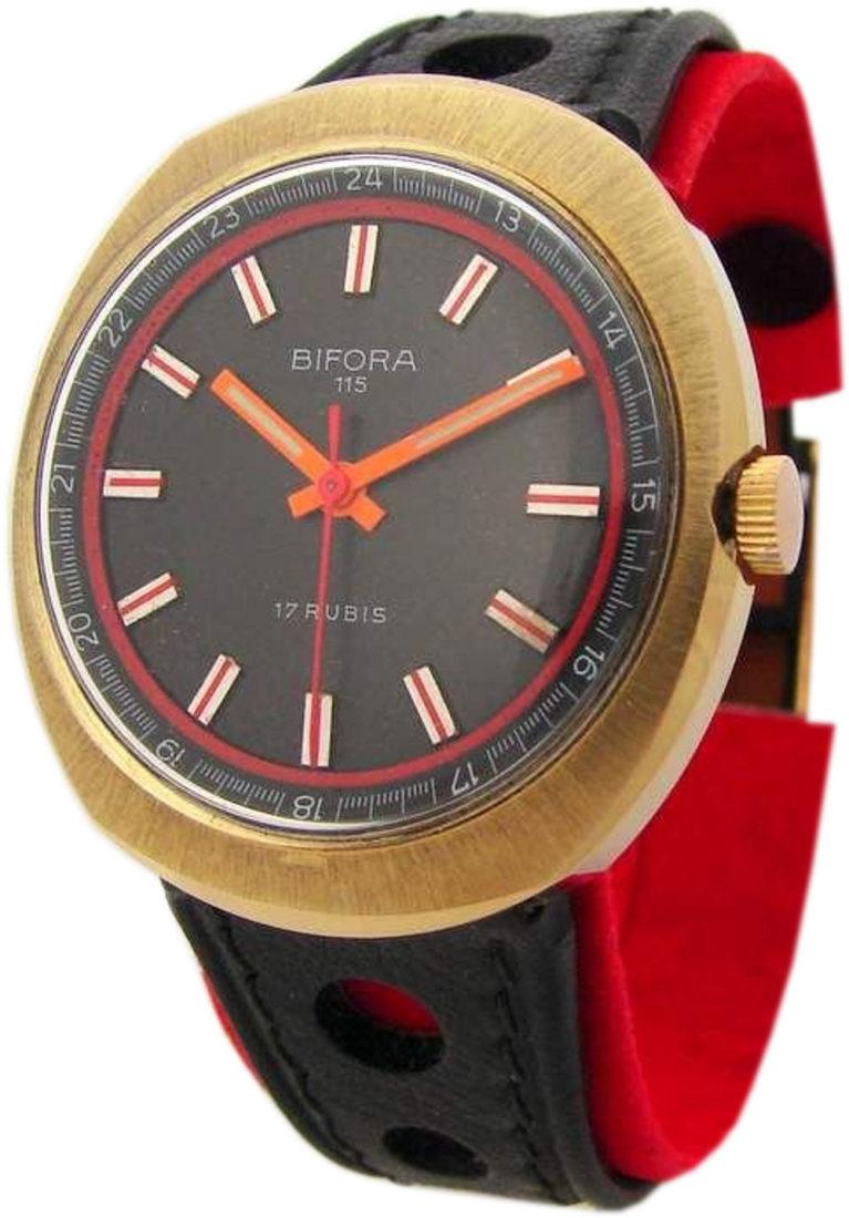 Bifora 115 mechanische 17 Rubis Uhr vintage men gents watch HAU Herrenuhr