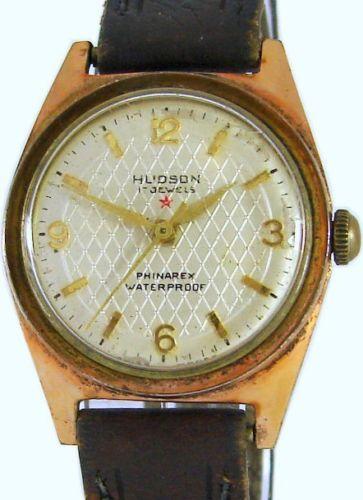 Hudson Phinarex Herrenuhr vintage swiss made mens watch 17 Jewels Werk 125
