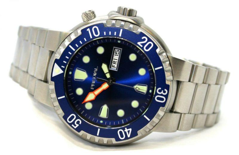 PREDIAL 100BAR Herren Quarz Taucheruhr Uhrband Edelststahl Heliumventil Lünette