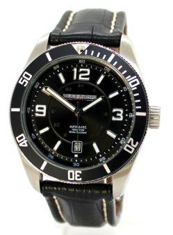 PREDIAL Automatic Sport Herrenuhr Lünette Edelstahl Lederband schwarz 10ATM 42mm