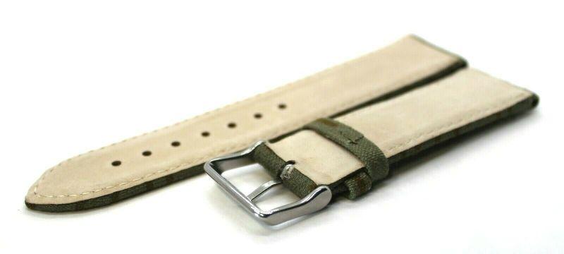 UMF Upcycling Uhrenband aus original NVA Zeltstoff ein strich kein strich grün