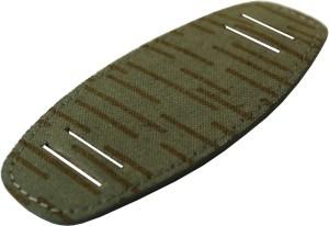 Upcycling Unterlage für Uhrband aus original NVA Stoff ein strich kein strich grün