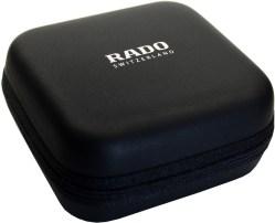 RADO Uhrbox Kunststoff soft case schwarz Reise und Service Etui