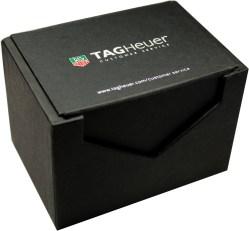 TAG HEUER Uhrbox Karton schwarz Reise und Service Etui