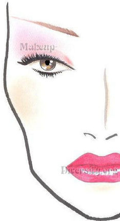Heartfelt Pink [MAC Imitation] L&R Face Chart #E-HP-117