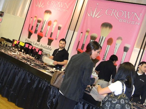 Crown Brush at the Makeup Show New York City 2012