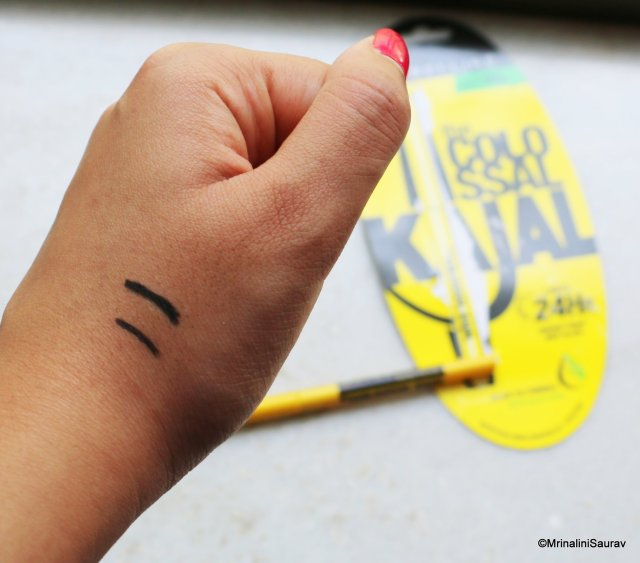 Maybelline Colossal Kajal Deep Black Review Swatches