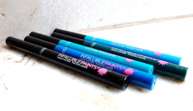 Loreal Paris Infallible Paints Eyeliners - All Shades | Review and Swatches