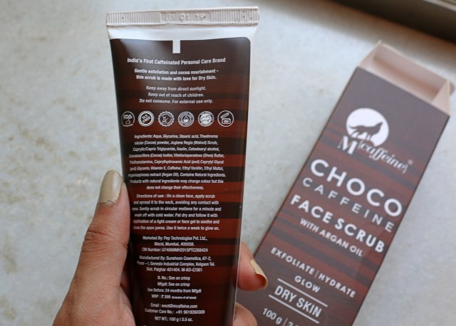MCaffeine Choco Caffeine Exfoliating Face Scrub | Review