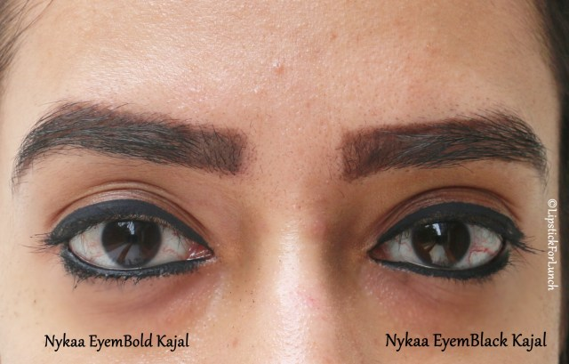 Nykaa EyemBlack Kajal | Review and Swatches
