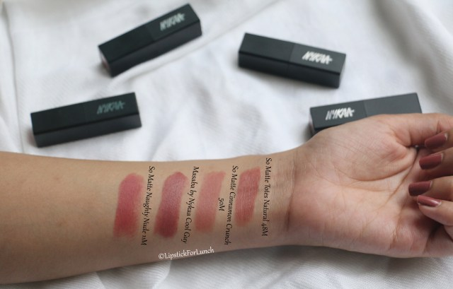Nykaa So Matte Lipstick - Totes Natural   Review and Swatches