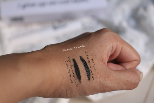 Blur Cosmetics I Give Up On Cat Eyes| Eyeliner | Review and Swatches