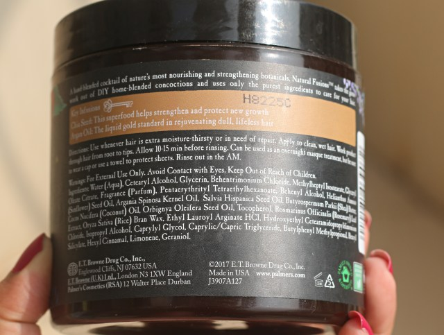 Palmer's Natural Fusions Chia Seed and Argan Oil Hair Mask | Review