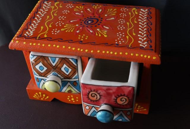 iTokri Neem And Ceramic Drawers