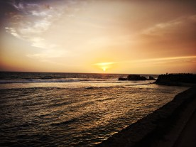 Soaking up the sun set at Galle