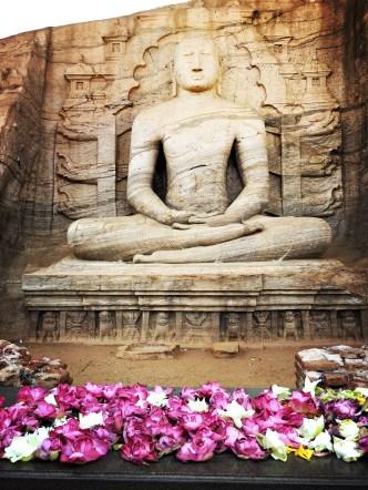 Seated Buddha image at Gal Vihara