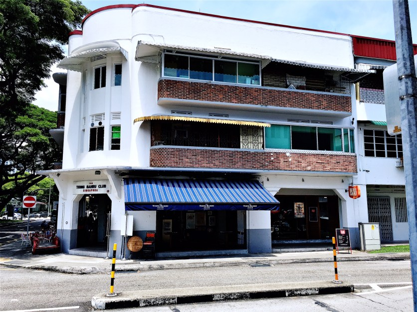 White walls of a heritage building at Tiong Bahru