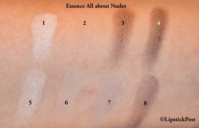 Swatches Essence All About Nude