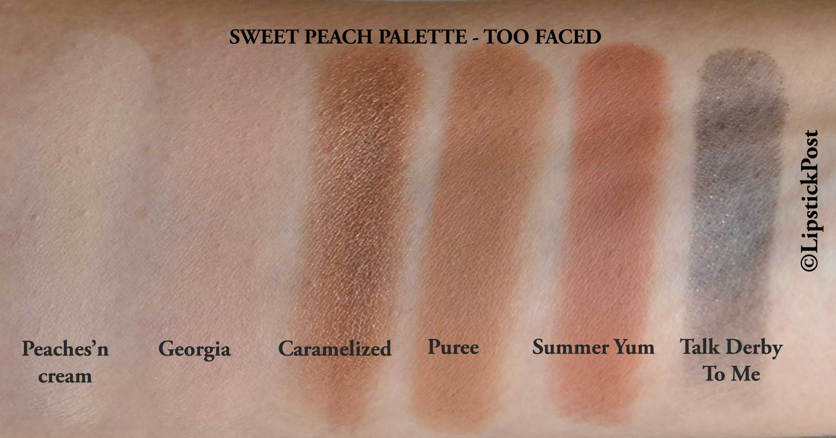 Swatches Sweet Peach Palette