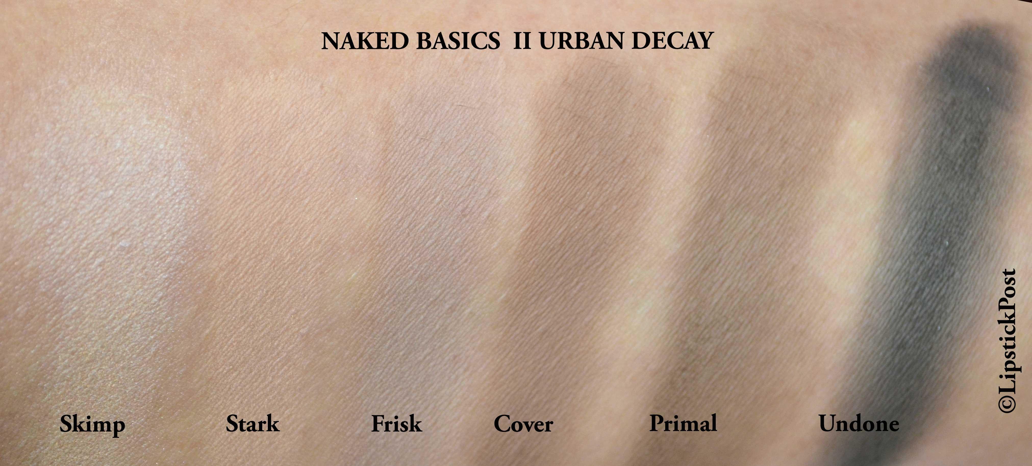 swatches Naked basics II
