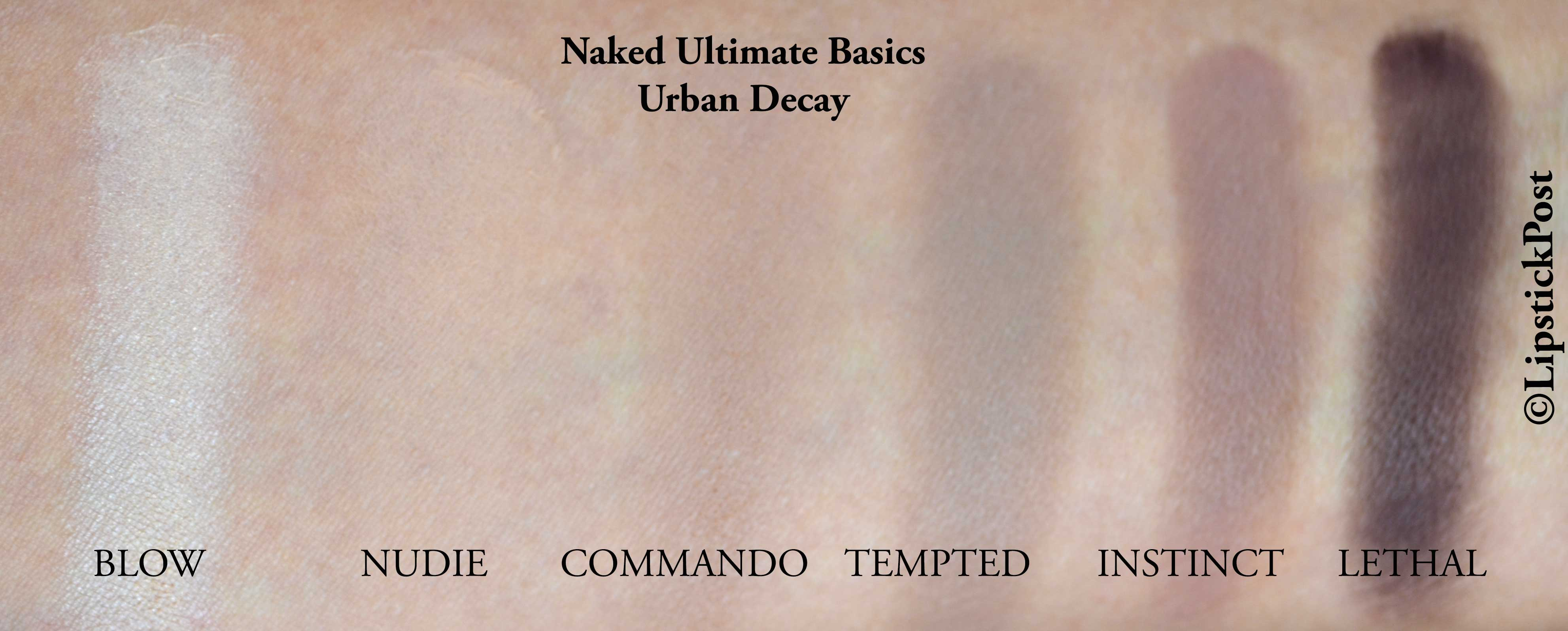 swatches Naked Ultimate Basics