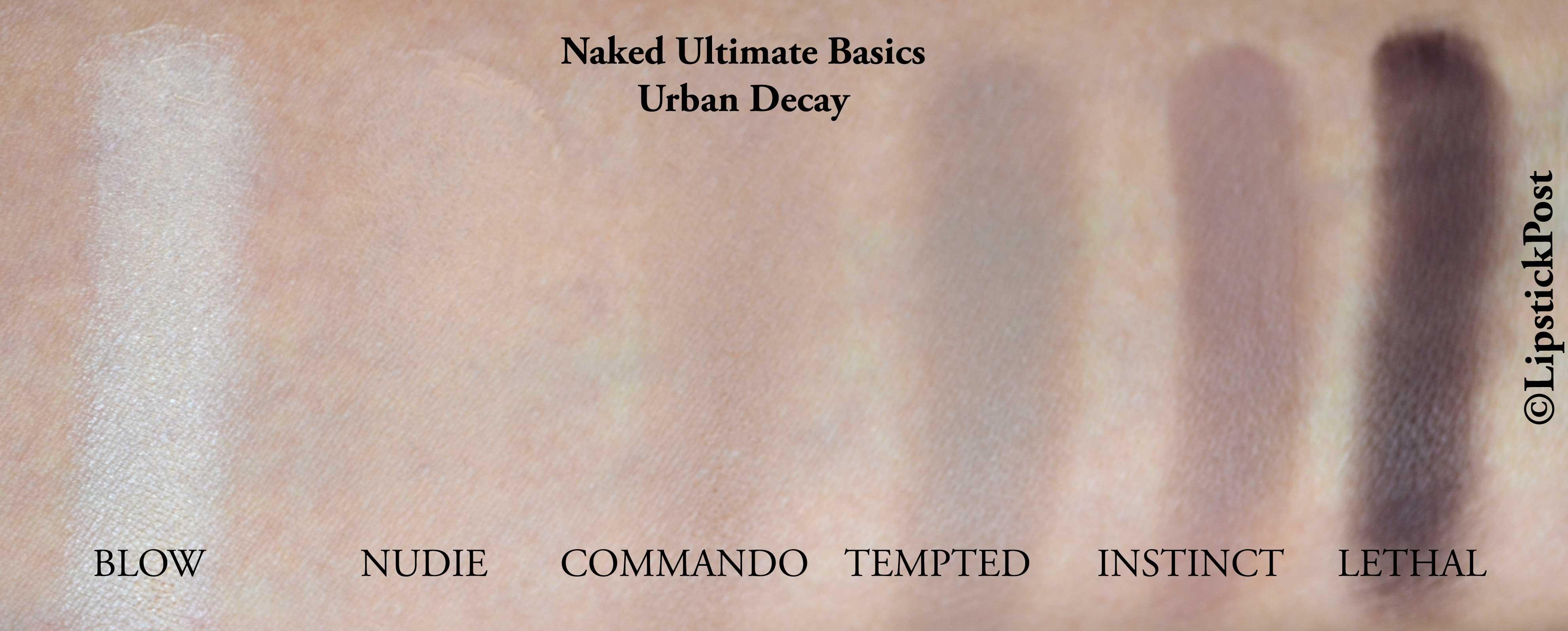 swatches Naked Ultimate Basics