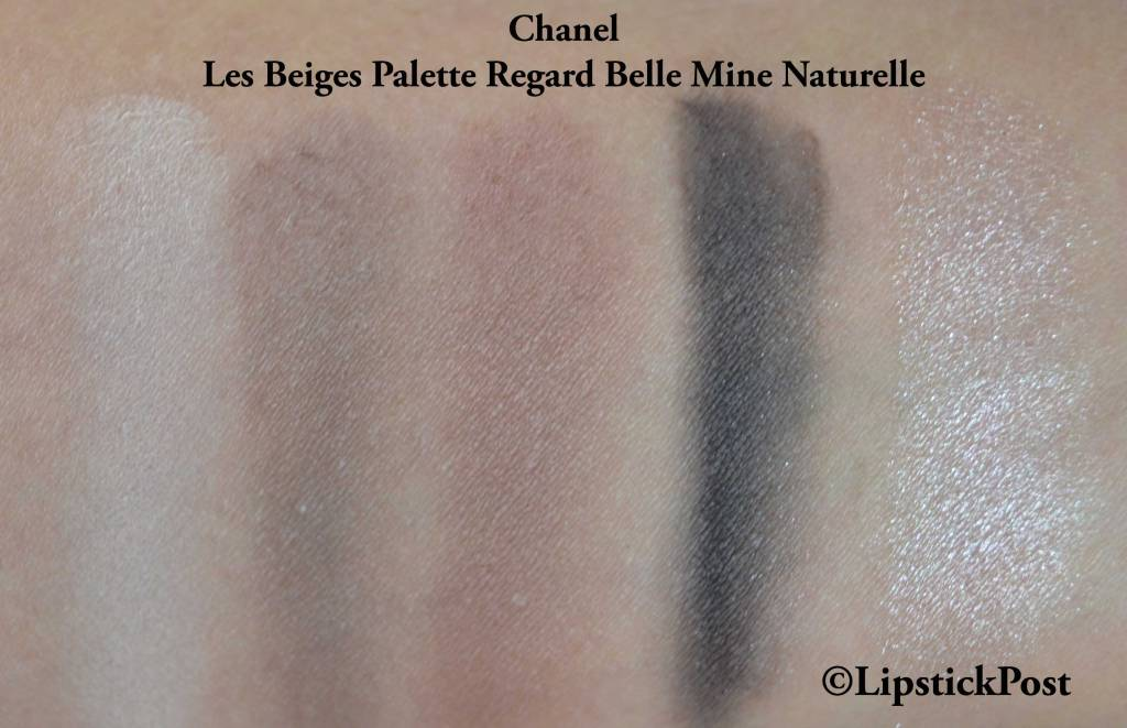 Swatches Les Beiges Healty Glow Natural Eyeshadow Palette