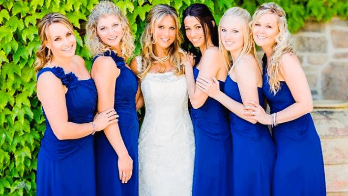 makeup ideas for royal blue dress