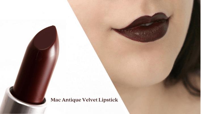 Mac Antique Velvet Lipstick on Dark Skin