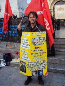 sit-in contro la caccia- -Piazza Politeama febbraio 2012