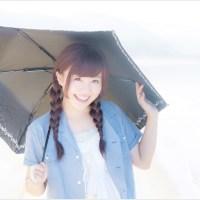 女性、日傘