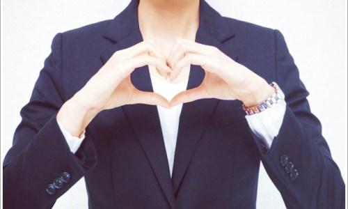 恋愛、女性、ハート、スーツ、ビジネス、仕事