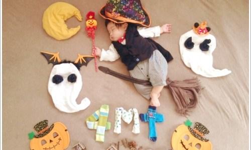 赤ちゃん、子供。、ハロウィン、コスプレ、寝相アート