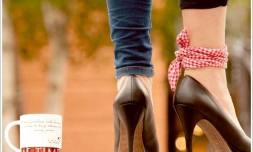 ヒール、靴、女性
