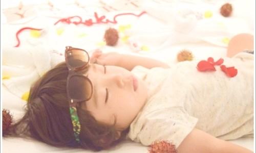 子供、赤ちゃん、寝る、寝相アート