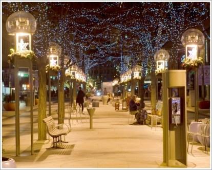 冬、町、都会