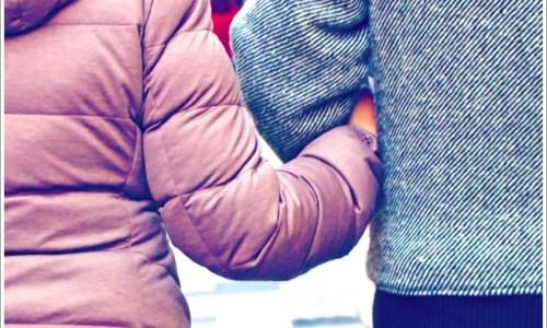 カップル、冬、デート